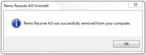 Recover Deleted Files - Uninstallation Screen 3